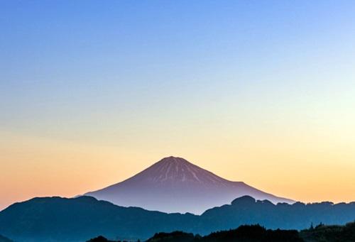 夕暮れの富士山パワースポット