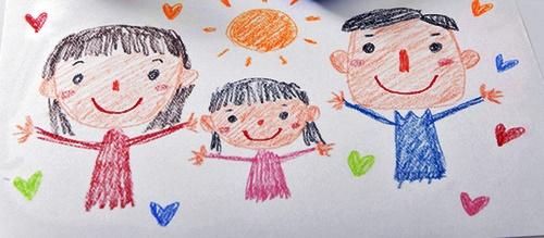 子供の書いたパパとママと女の子