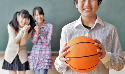 勉強よりバスケット選手になりたい男の子
