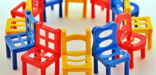 椅子の形のブロック