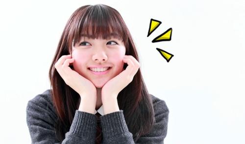 すくすく育った可愛い女子中学生の笑顔