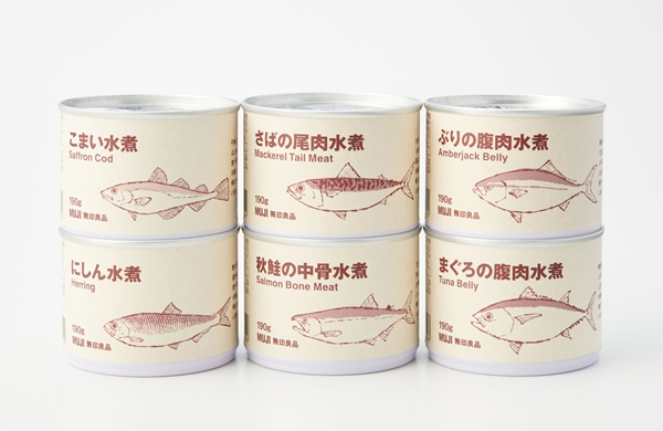 無印良品【魚の缶詰シリーズ】6種類